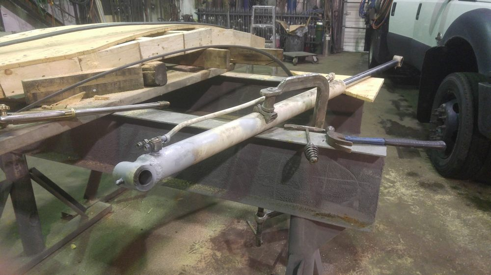 bobcat hydraulic cylinder welding repair