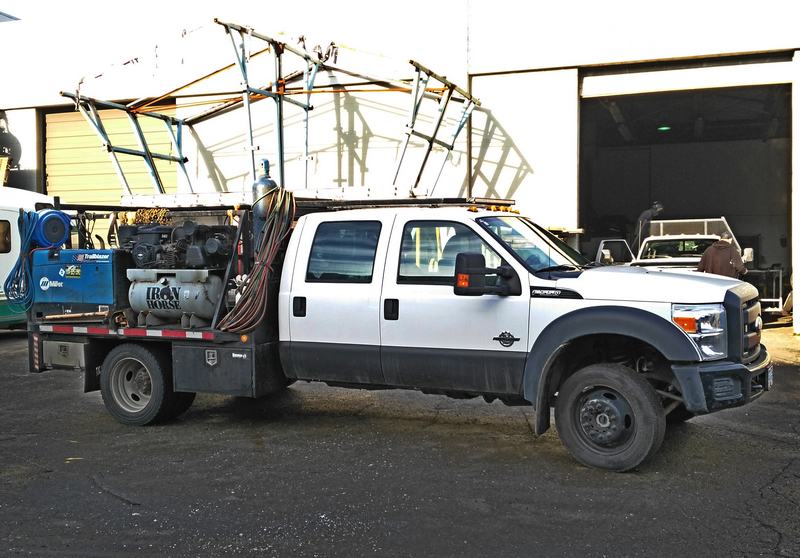 Equipped welding truck-at Langley metal shop