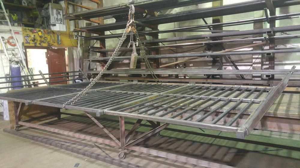 Metal railing guard fabricating